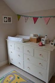 Changing Table Width Evie S Soft Stripes Dresser Change Tables And Nursery