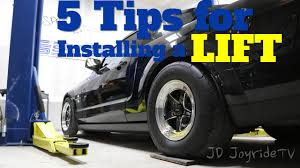 5 tips before installing a car lift in your garage youtube
