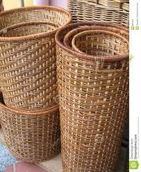 Cane Laundry Hamper by Rattan Basket Stock Images Image 805164