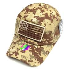 American Flag Camo Hat Vintage Cotton Cap Usa Flag Patch Trucker Mesh Khaki Baseball Hat