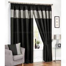 Black And Silver Curtains Tordero Black Silver Ready Made Curtains Pleated Curtains