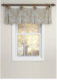 Window Treatment Valance Ideas Arbor Ivory Black Banner Valances Set Of 3 Valance Tassels