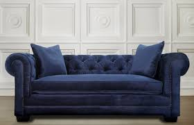 Fabric Chesterfield Sofas Uk by Sofas Center Navy Velvet Sofa With Nailheads Balla Chesterfield