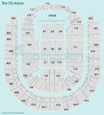 the o2 arena detailed seating plan