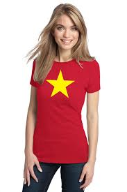 Flag With Yellow Star Ladies Vietnam Flag Shirt Red With Yellow Star Infobarrel Images