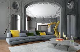 canapé en cuir contemporain roche bobois kerria canapé 4 places gris roche bobois decofinder