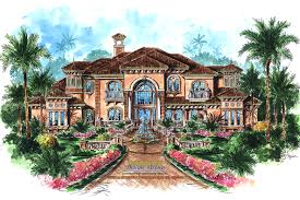 Spanish Colonial House Plans by Spanish House Plans Mediterranean Style Greatroom Courtyard
