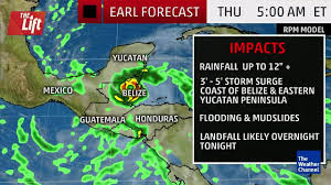 Mexico Hurricane Map by 5 Things To Know About Hurricane Earl The Weather Channel