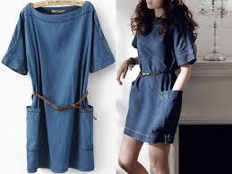 2017 retro blue denim one piece dress women plus size maxi jeans