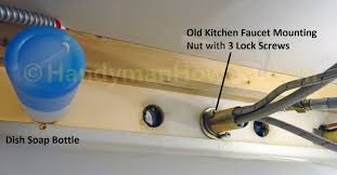 how to replace a kitchen faucet handymanhowto com kitchen faucet mounting nut beautiful how to replace a kitchen