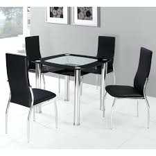 Square Dining Room Set Metal Glass Dining Table Set Stainless Steel Top Dining Room Table