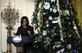 white house tree theme 2016white ornaments