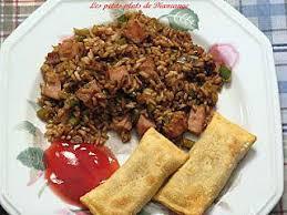 cuisine chinoise facile recette de riz chinois aux légumes et jambon