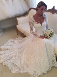 wedding dresses for sale online v neck a line lace sleeve wedding dress tbdress