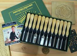 record power 12 piece carving chisel set with educational booklet