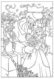 beauty and the beast coloring pages getcoloringpages com