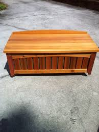 Garden Storage Bench Wood Cedar Garden Storage Bench By Bbakaj Lumberjocks Com