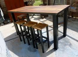 table haute cuisine bois table haute cuisine maison du monde 1 table mange debout