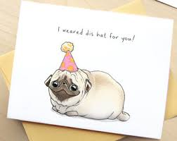 tipton s cupcakes pug birthday card birthday card