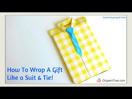 Gift Wrapping How To - father u0027s day crafts shirt style u0026 neck tie gift wrapping how