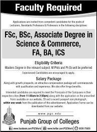 College Lecturer Resume 300 Lecturers Jobs In Punjab Group Of Colleges In All Campuses