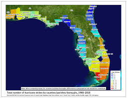 Map Of University Of Florida by Where Do Hurricanes Strike Florida 110 Years Of Data Sas