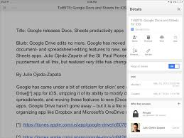 Google Spreadsheets App New Google Docs Sheets Apps Aid Mobile Collaboration Tidbits