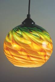 Blown Glass Pendant Lights Green Gold Optic Blown Glass Pendant L Shapiro S St