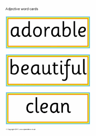 printable esl eal adjectives vocabulary teaching resources