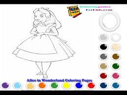 alice wonderland coloring pages kids alice wonderland