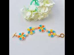 flower beaded bracelet images Diy seed bead flower bracelet jpg