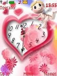 themes java love free download love clock for java app