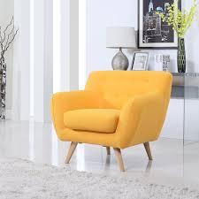 amazon com mid century modern tufted button living room accent amazon com mid century modern tufted button living room accent chair yellow kitchen dining
