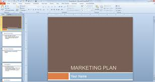 marketing plan template for powerpoint presentations