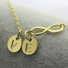 infinity necklace with initials gold color infinity name necklace personalized infinity necklace 2