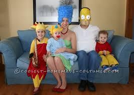 Simpson Halloween Costumes Simpsons Family Costumes