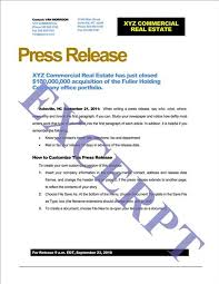 press release template realcreforms