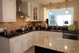 different countertops using two granite colors in the kitchen advanced granite solutions