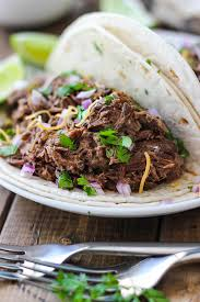 slow cooker shredded beef tacos the cooking jar