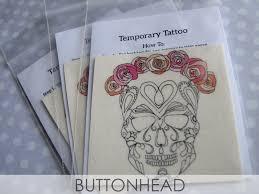 sugar skull temporary tattoos buttonhead