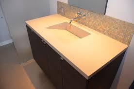 Quartz Integrated Sinks Modern Vanity Tops And Side Splashes San - Quartz bathroom countertops with sinks