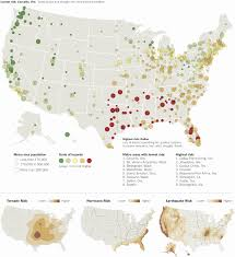 Time Zone Map For Usa Where To Live To Avoid A Natural Disaster Map Nytimes Com