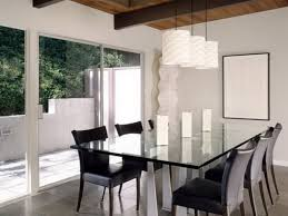 Contemporary Living Room Illuminated With Hanging Chandelier - Contemporary chandeliers for dining room