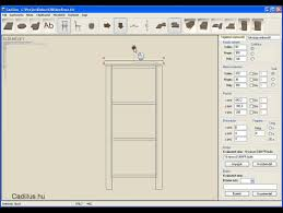 bútortervező program furniture design software cadillus 2 rész