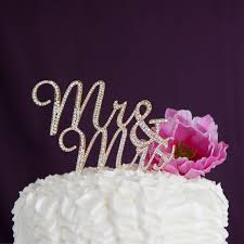 rhinestone cake mr and mrs wedding cake topper gold rhinestone