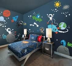 wall theme space theme planets astronaut galaxy kids wall decal