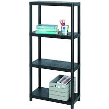 4 Tier Shelving Unit by Sigma 4 Tier Shelving Unit 12in Free Standing Shelving