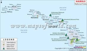 Hawaii national parks images Hawaii national parks map jpg