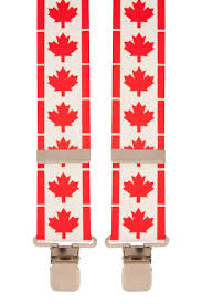 Canadian Flag Patch Flag Mapel Leaf Canadian Red White Trouser Braces Mens Suspender