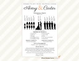 sided wedding programs printable silhouette wedding program the avery